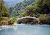 Ancient, stone bridge in Georgia - the bridge of Queen Tamara