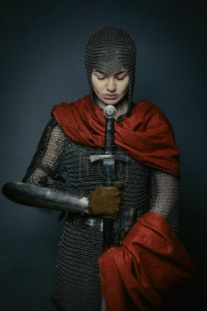 Woman in knight armour