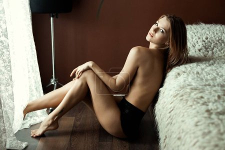 Naked young woman