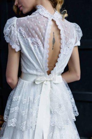 woman in lacy dress