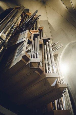 Organ inside of Reykjavik church