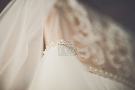 Wedding dress and weeding accessorises with clothes
