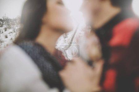 Photo pour Portrait de Tendre moment entre deux jeunes amants - image libre de droit