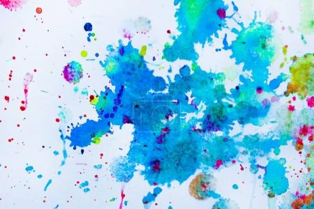watercolor blots on paper