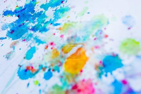 watercolor blots on paper