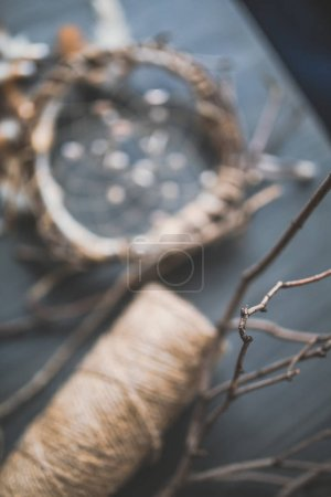 blurred hand-made dream catcher