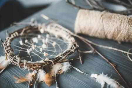 beautiful hand-made dream catcher
