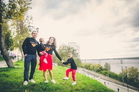 lovely family in park