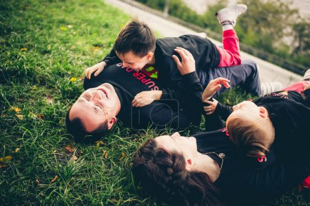 lovely family have fun