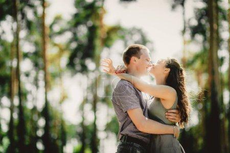 lovely couple kissing