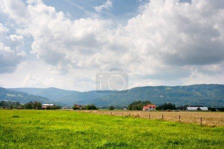 Rural landscape in MoravianSilesian region