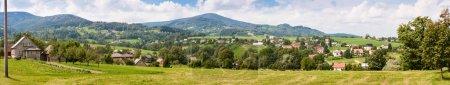 Summertime rural landscape banner panorama