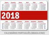 Portuguese (Brazilian) pocket calendar for 2018