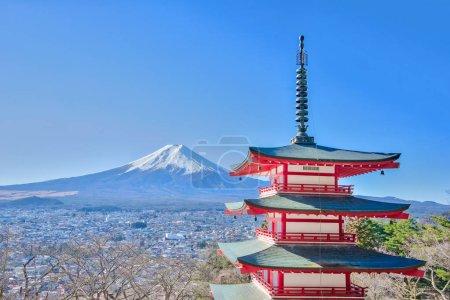 Mt. Fuji iin Kawagushiko near Tokyo, Japan