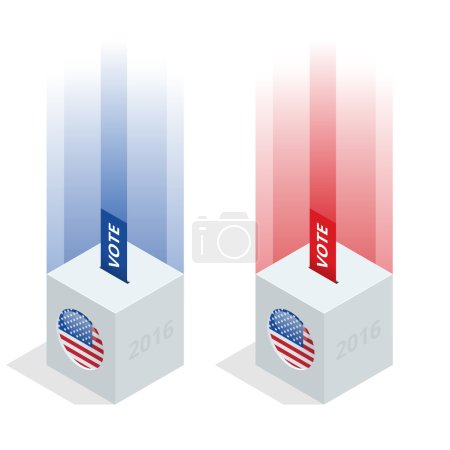Us Election 2016 infographic. Ballot Box for an election