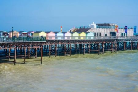 View of a new  pier in Hastings, East Sussex. UK
