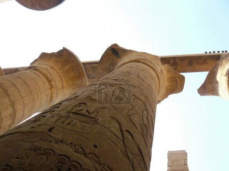 Ruines in Luxor. An ancient Egyptian temple....