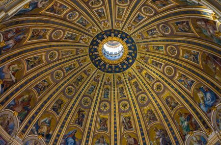 The dome of Saint Peters Basilica in Vatican
