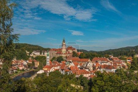 Nice view of Cesky Krumlov in Czech Republic