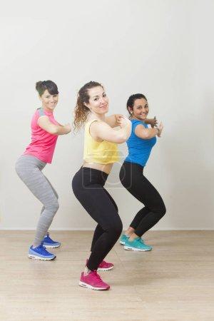 Girls in sportswear during workout