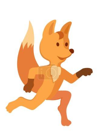 Running baby fox