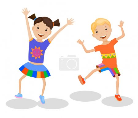 Dancing Kids in colorful clothes
