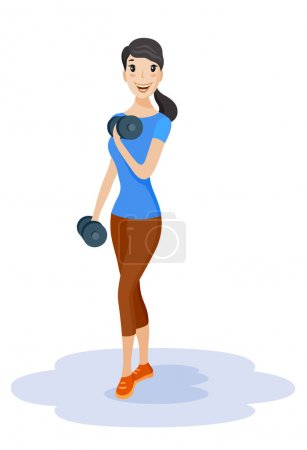 Healthy lifestyle of sportive woman