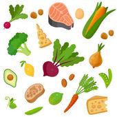 Health organic food background