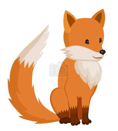 Little cartoon cute fox