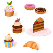 colorful set of cakes