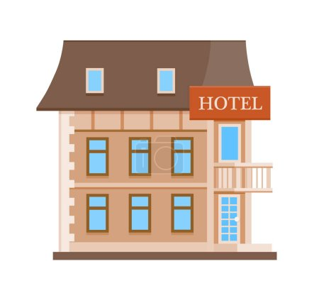 Cartoon hotel icon