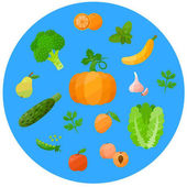 Health food icons