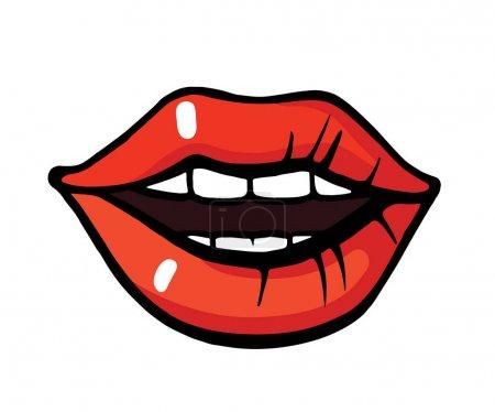 Pop art style lips sticker