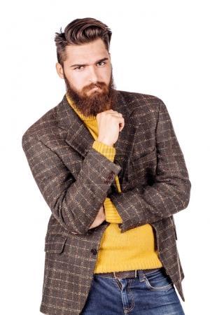 bearded businessman in casual wear