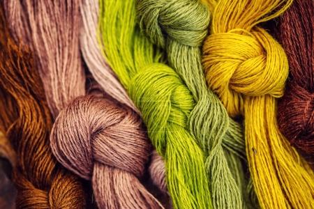 Multicolor threads for embroidery cross-stitch, mulina.