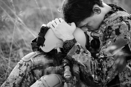 Photo for US Soldier With PTSD - Royalty Free Image