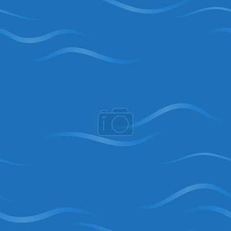 Seamless abstract blue background with stylized waves.  pattern.