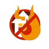 House fire logo design