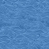 Seamless abstract hand-drawn waves pattern wavy background can be used for wallpaper fills web page surface textures