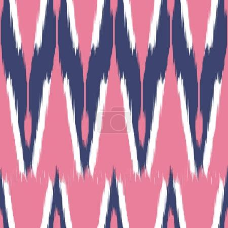 Ikat seamless pattern  as cloth, curtain, textile design, bed li