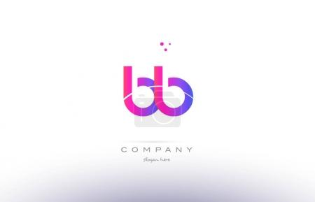 Illustration pour Bb b b rose violet moderne créatif dégradé alphabet entreprise logo conception vectoriel icône modèle - image libre de droit