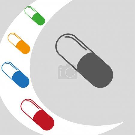 Illustration pour Illustration vectorielle conception du logo pilule moderne - image libre de droit