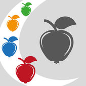Vector illustration design of modern fruits logo