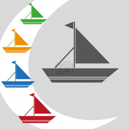 Boat  icon,  illustration