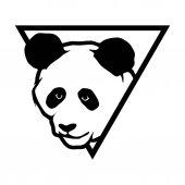 Panda head in triangle