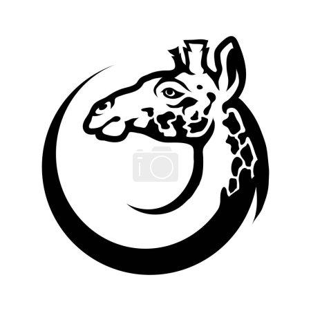 Giraffe head in circle