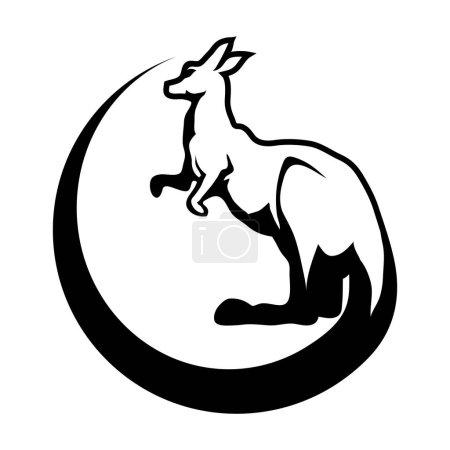 Kangaroo with circle Logo