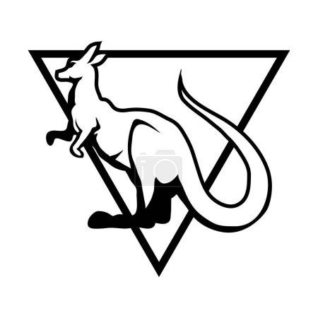 Kangaroo in triangle Logo