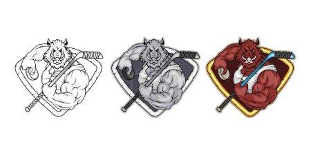 Hockey pig logo