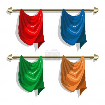 different colored curtains